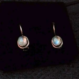 Moonstone and sterling earrings